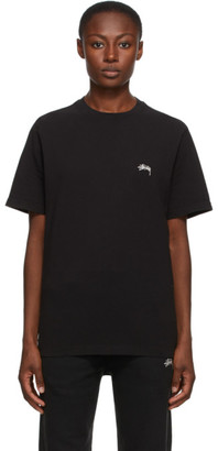 Stussy Black Stock Logo T-Shirt
