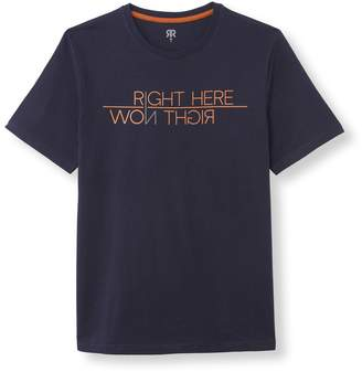 La Redoute Collections Cotton Slogan Print T-Shirt with Short Sleeves