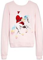 Wildfox Couture Girls' Unicorn Sleigh Graphic Sweatshirt - Sizes 7-14