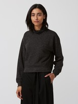 Frank and Oak Heavy-Fleece Mock-Neck Sweatshirt in Carbon Heather