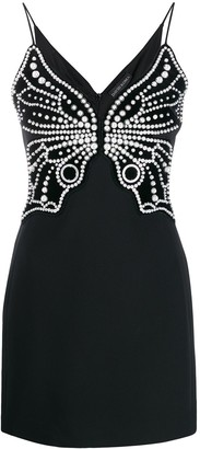 David Koma Pearl Embellished Dress