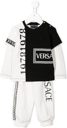 Versace Logo Two-Piece Tracksuit Set