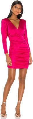 BCBGMAXAZRIA Ruched Long Sleeve Mini Dress
