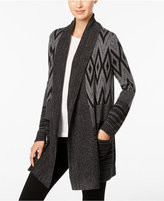 Style&Co. Style & Co. Mixed-Pattern Open-Front Cardigan, Only at Macy's