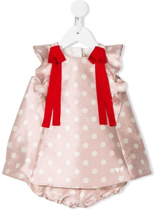 Hucklebones London Polka Dot Flutter Dress