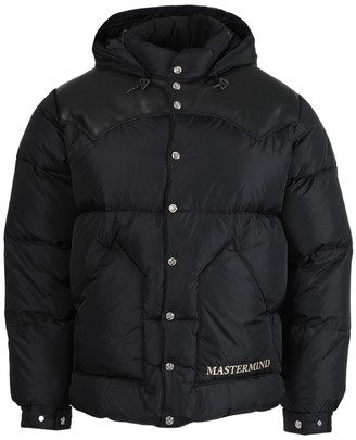 Mastermind Japan Black Panel Leather Puffer Jacket