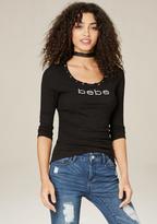 Bebe Logo Shonda Top
