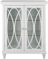 ELEGANT 32 H Cassini Double Door Floor Cabinet with 2 Adjustable Tempered Glass Shelves