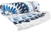 The Beach People Marjorelle Round Cotton-terry Towel - Blue