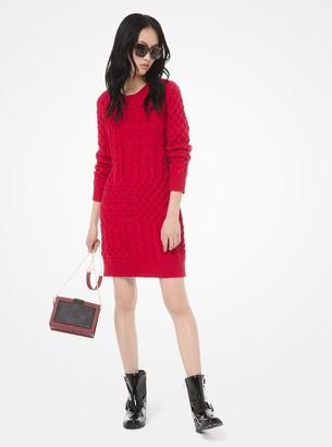 MICHAEL Michael Kors Cable-Knit Sweater Dress