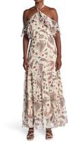 Thumbnail for your product : Lucy Paris Cold Shoulder Floral Halter Maxi Dress