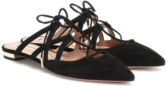 Aquazzura Belgravia suede slippers