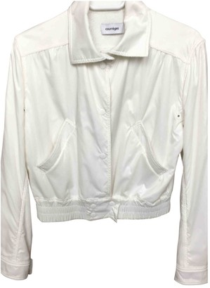 Courreges White Leather Jacket for Women