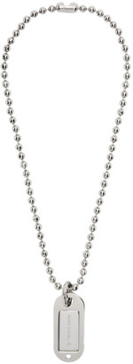 MM6 MAISON MARGIELA Silver Dog Tag Necklace