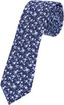 Oxford Tie Silk Floral Print Regular