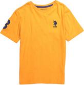 U.S. Polo Assn. Stanton Orange Logo V-Neck Tee - Infant