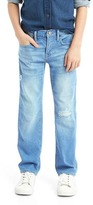 Gap Stretch destructed straight jeans