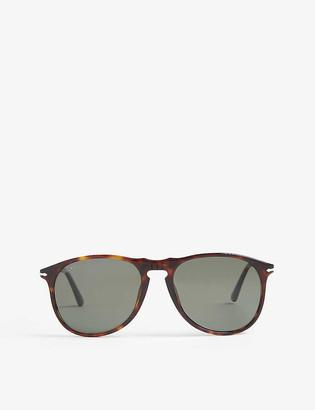 Persol PO6649 aviator Havana sunglasses