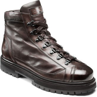 Santoni Men's March Lug-Sole Lamb Leather Boots