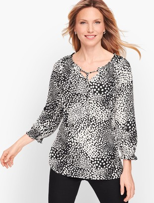 Talbots Abstract Clover Blouse