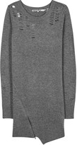Pam & Gela Grey Laddered Wool Blend Jumper Dress