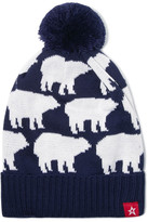 Perfect Moment - Pompom-embellished Merino Wool-blend Beanie - Navy