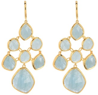 Monica Vinader GP Siren Aquamarine Chandelier Earrings