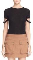 Helmut Lang Women's Slash Sleeve Cotton & Cashmere Crewneck Tee