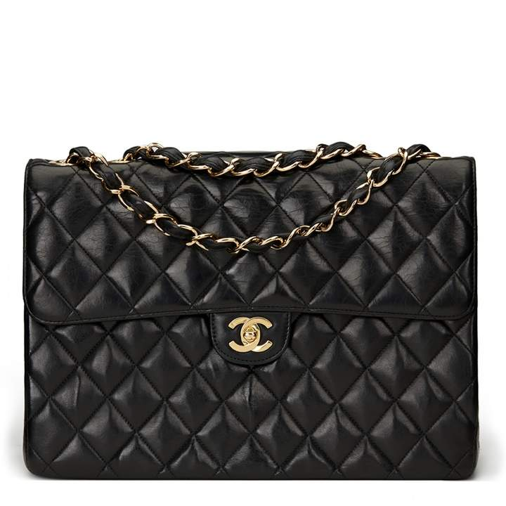 Chanel Timeless Black Leather Handbag