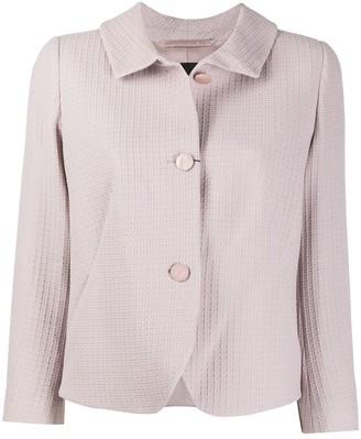 Emporio Armani Textured Buttoned Jacket