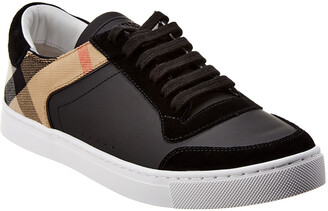 Burberry House Check Leather & Suede Sneaker