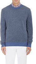 Luciano Barbera Men's Cashmere Elbow-Patch Sweater-NAVY