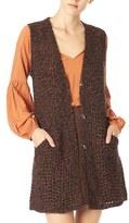 Sanctuary 'Palais' Button Front Sweater Vest