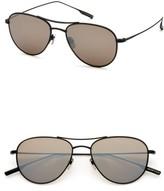 Salt Men's 'Meadows' 54Mm Polarized Aviator Sunglasses - Black Sand