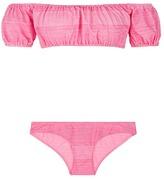 Lisa Marie Fernandez 'Leandra' stripe off-shoulder bikini set