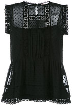 RED Valentino sleeveless embroidered blouse