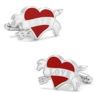 Cufflinks Inc. Tattoo Heart Cuff Links