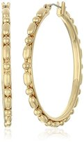 "Diane von Furstenberg Aquarius"" Bead Hoop Earrings"