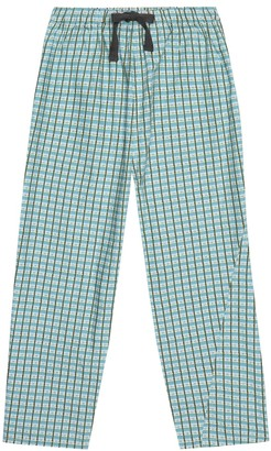 Caramel Chelsea checked cotton pants