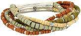Robert Lee Morris Multi Row Beaded Stretch Bracelet