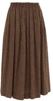 Raey Elasticated-waist Textured Tweed Full Skirt - Womens - Brown Multi