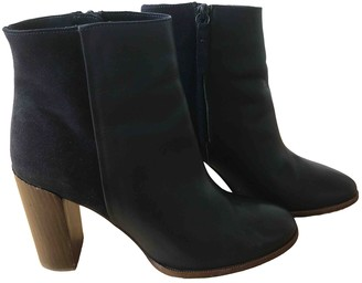 Massimo Dutti Blue Leather Ankle boots