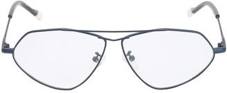 Le Specs Psyche Optical Aviator Matte Metal Glass