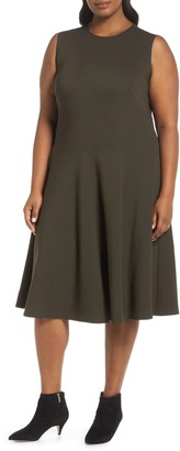 Lafayette 148 New York Topango Punto Milano Fit & Flare Dress (Plus Size)