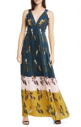 Ted Baker Savanna Pleated Maxi Dress