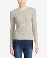Polo Ralph Lauren Cable Crew-Neck Wool Cashmere Blend Sweater