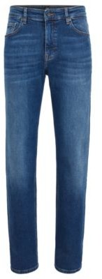 BOSS Relaxed-fit jeans in soft-touch super-stretch denim