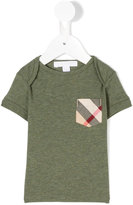 Burberry check pocket T-shirt - kids - Cotton - 6 mth