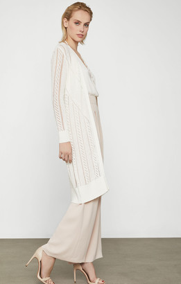BCBGMAXAZRIA Long Crochet Cardigan