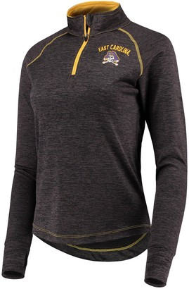 Colosseum Women's Black East Carolina Pirates Bikram 1/4 Zip Long Sleeve Jacket